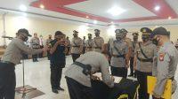 Kapolres Sanggau Pimpin Sertijab Kasat Reskrim Dan Lima Kapolsek Di Polres Sanggau