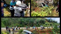 Kadis PU Melawi Alami Laka Tunggal Di Batang Tarang, Ini Kondisinya