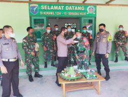 Sampaikan Ucapan HUT TNI, Kapolres Sekadau Kunjungi Koramil 1204  -15 / Sekadau Hilir