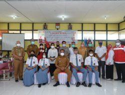 Bupati Paolus Hadi Launching Vaksinasi Massal PMI Sanggau Untuk Siswa