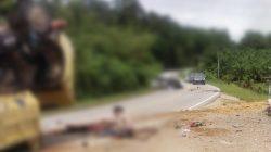 BREAKING NEWS: Laka Lantas Ditanjakan Ensilup, Korban Terkapar Dijalan Raya